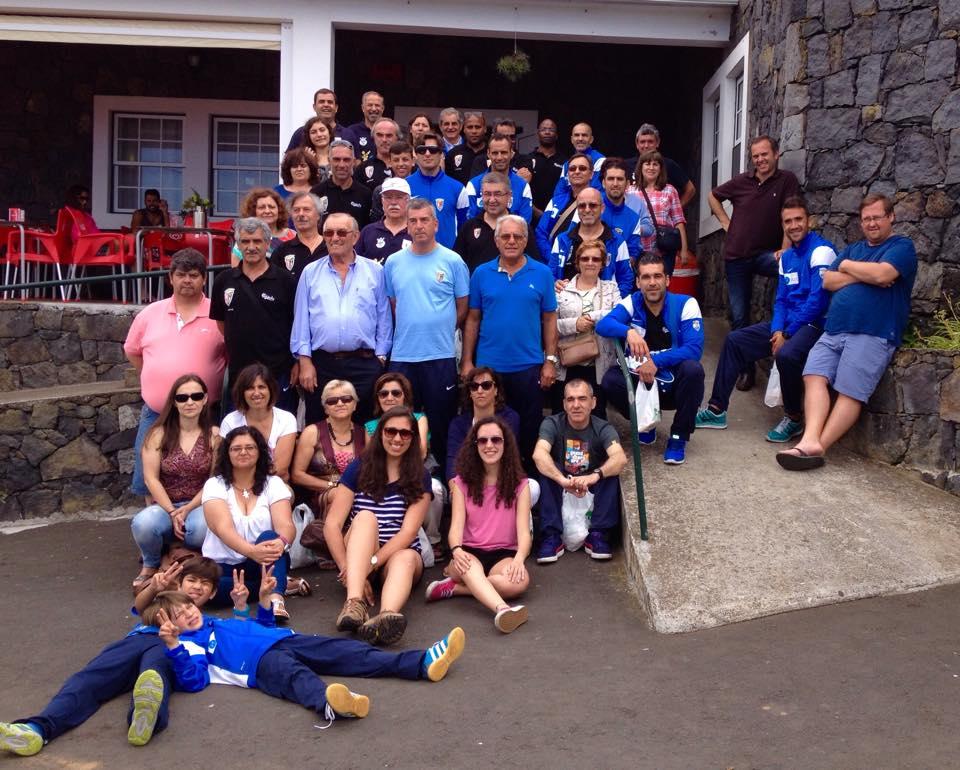Veteranos de Terra Chã da ilha Terceira nos Açores visitam Alcobaça